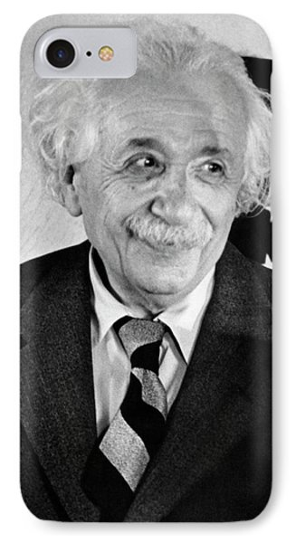 Albert Einstein IPhone Case by Emilio Segre Visual Archives/american Institute Of Physics