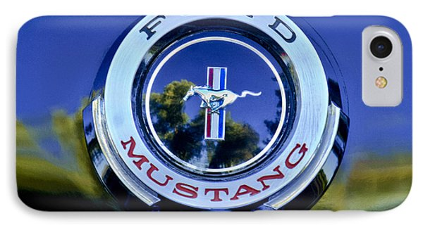 1965 Shelby Prototype Ford Mustang Emblem IPhone Case by Jill Reger
