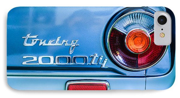 1972 Bmw 2000 Tii Touring Taillight Emblem -0182c IPhone Case by Jill Reger