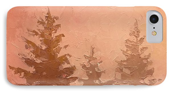 3 Cedars In The Fog No. 1 IPhone Case by Karen Whitworth
