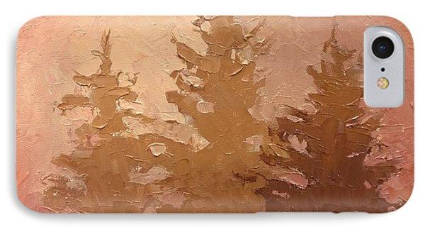 3 Cedars In The Fog No. 2 IPhone Case by Karen Whitworth
