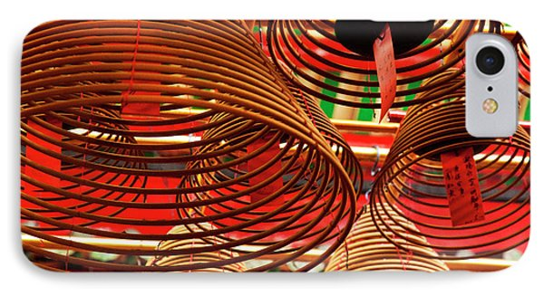 China, Hong Kong, Spiral Incense Sticks IPhone Case by Terry Eggers