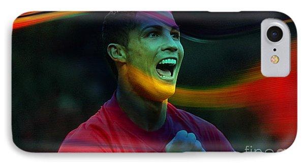 Cristiano Ronaldo IPhone Case by Marvin Blaine