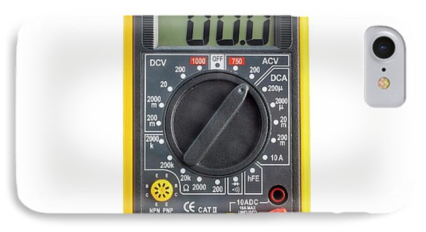 Digital Multimeter IPhone Case by Science Photo Library