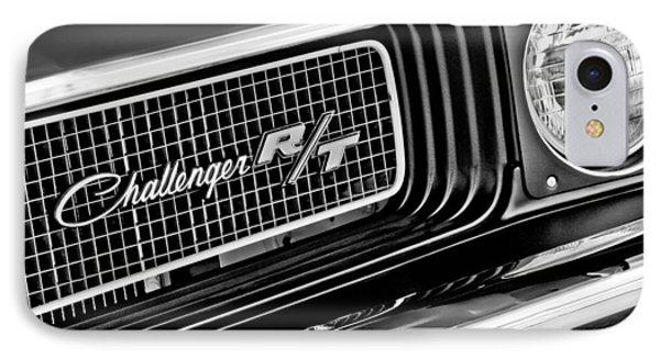 Dodge Challenger Rt Grille Emblem Phone Case by Jill Reger