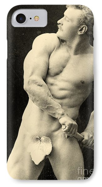Eugen Sandow IPhone Case by George Steckel