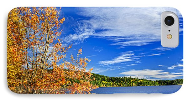 Fall Forest And Lake IPhone Case by Elena Elisseeva