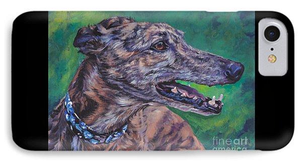 Greyhound IPhone Case by Lee Ann Shepard