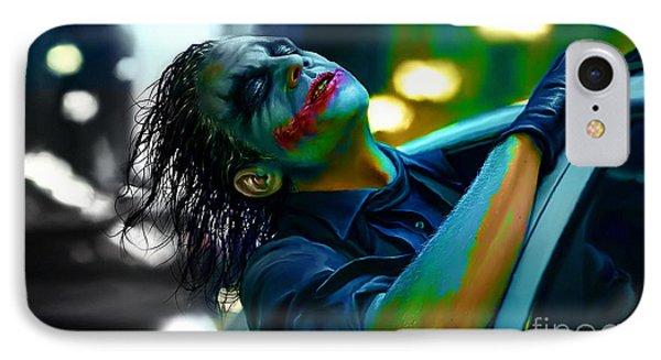 Heath Ledger IPhone 7 Case by Marvin Blaine