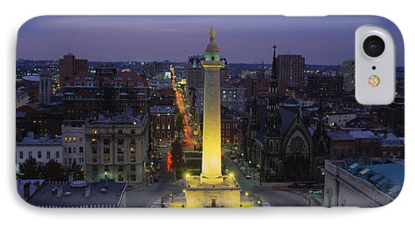 High Angle View Of A Monument IPhone 7 Case by Panoramic Images