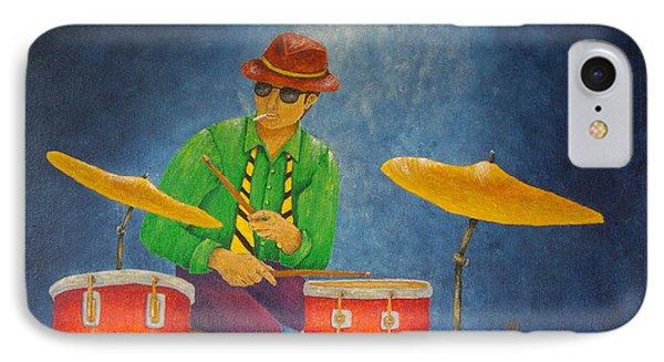 Jazz Drummer IPhone 7 Case by Pamela Allegretto