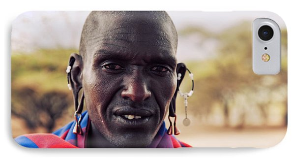 Maasai Man Portrait In Tanzania Phone Case by Michal Bednarek