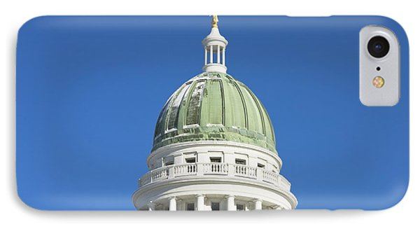 Maine State Capitol Building In Augusta IPhone Case by Keith Webber Jr