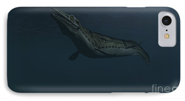 Mosasaur Swimming In Prehistoric Waters Phone Case by Kostyantyn Ivanyshen