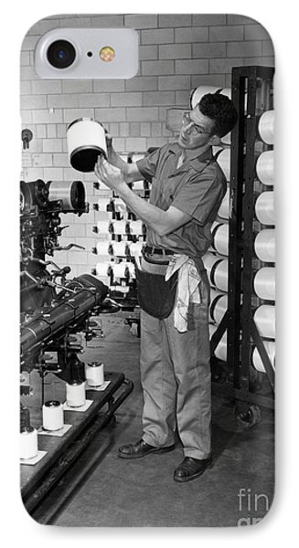 Nylon Production, 1950s IPhone Case by Hagley Archive