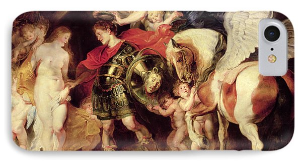 Perseus Liberating Andromeda IPhone Case by Peter Paul Rubens