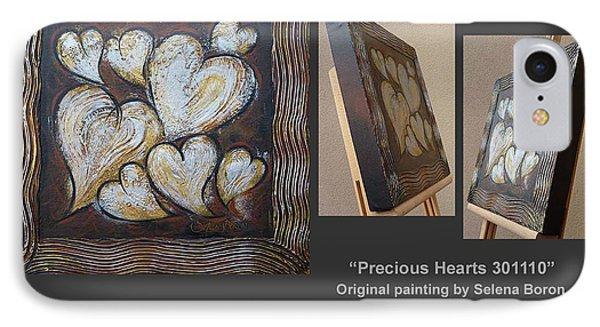 Precious Hearts 301110 Phone Case by Selena Boron
