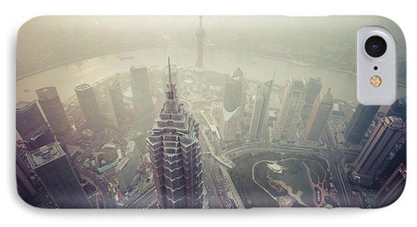 Shanghai Pudong Skyline Phone Case by Fototrav Print