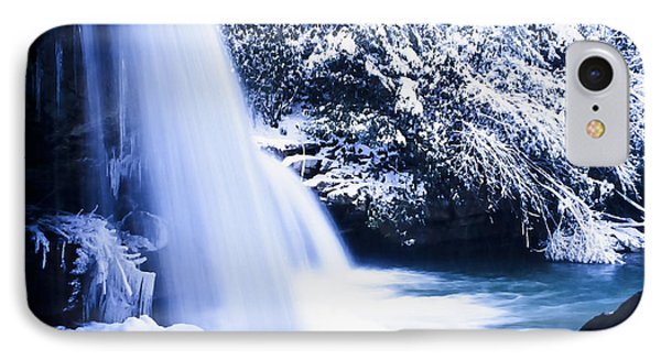 Snow And Waterfall IPhone Case by Thomas R Fletcher