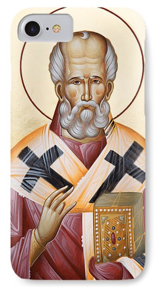 St Nicholas Of Myra IPhone Case by Julia Bridget Hayes