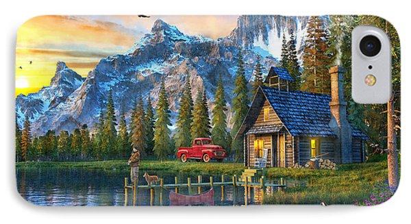 Sunset At Log Cabin IPhone Case by Dominic Davison