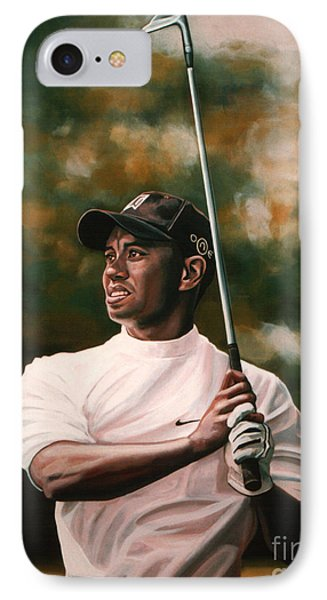 Tiger Woods  IPhone 7 Case by Paul Meijering