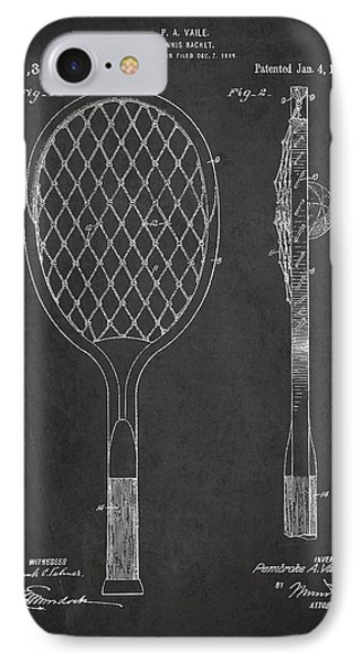 Vintage Tennnis Racket Patent Drawing From 1921 IPhone Case by Aged Pixel