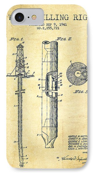 Vintage Well Drilling Rig Patent From 1941 IPhone Case by Aged Pixel
