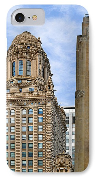35 East Wacker - Jewelers' Building Chicago Phone Case by Christine Till