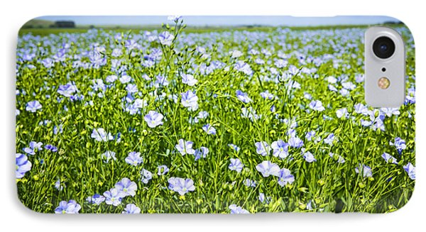 Blooming Flax Field IPhone Case by Elena Elisseeva