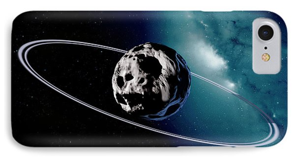 Chariklo Minor Planet And Rings IPhone Case by Detlev Van Ravenswaay