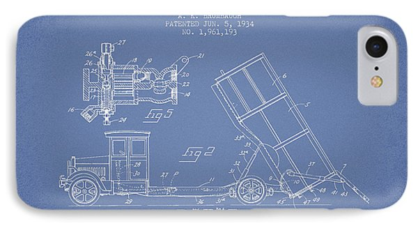 Dump Truck Patent Drawing From 1934 IPhone 7 Case by Aged Pixel