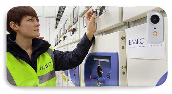 European Marine Energy Centre IPhone Case by Ashley Cooper