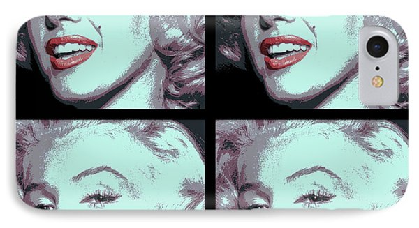 4 Frame Marilyn Pop Art IPhone Case by Daniel Hagerman