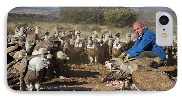 Griffon Vulture Conservation IPhone 7 Case by Nicolas Reusens