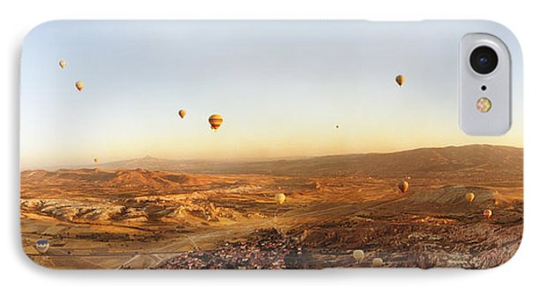 Hot Air Balloons Over Landscape IPhone Case by Panoramic Images