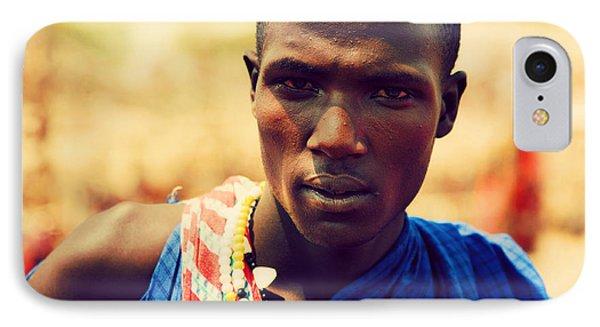 Maasai Man Portrait In Tanzania Phone Case by Michal Bednarek