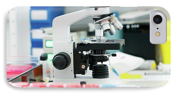 Medical Microscope IPhone Case by Wladimir Bulgar