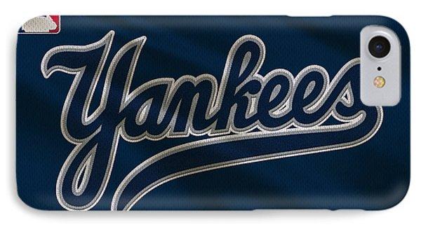 New York Yankees Uniform IPhone Case by Joe Hamilton