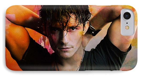 Orlando Bloom IPhone Case by Marvin Blaine