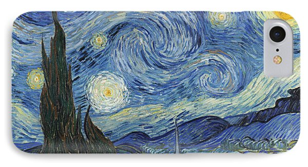 The Starry Night IPhone 7 Case by Vincent Van Gogh