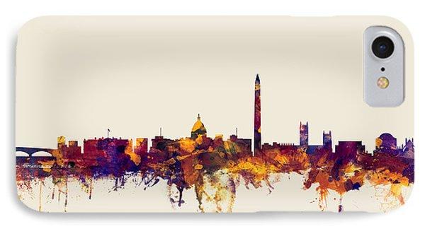 Washington Dc Skyline IPhone Case by Michael Tompsett