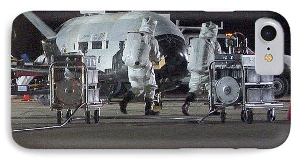 X-37b Orbital Test Vehicle, Post-landing IPhone Case by Science Source