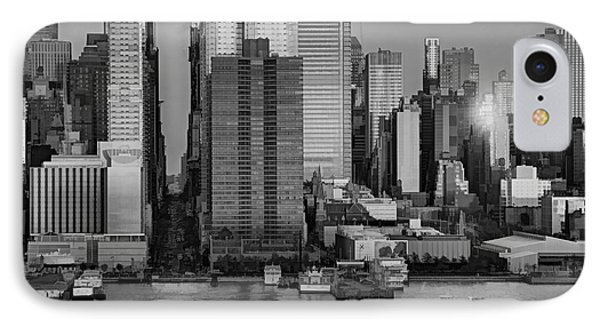 42nd Street Times Square Bw IPhone Case by Susan Candelario