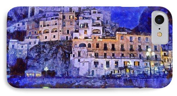 Amalfi Town In Italy Phone Case by George Atsametakis