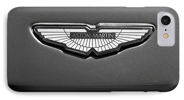 Aston Martin Emblem IPhone Case by Jill Reger
