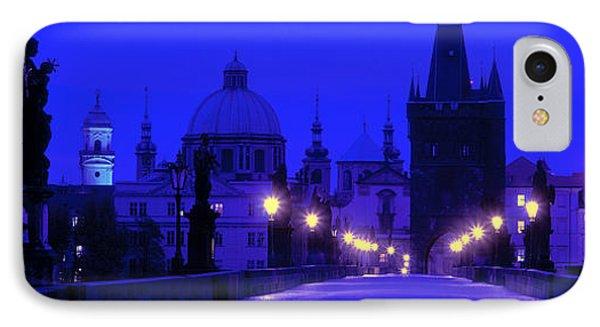 Charles Bridge, Prague, Czech Republic IPhone Case by Panoramic Images