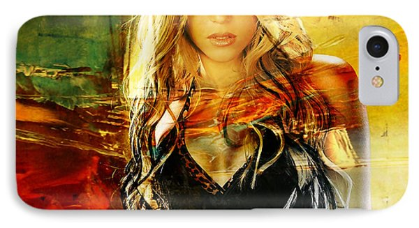 Shakira IPhone Case by Marvin Blaine