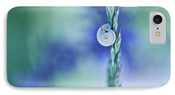 Snail On Grass IPhone Case by Nailia Schwarz