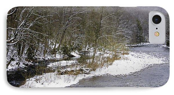 Spring Snow Williams River  Phone Case by Thomas R Fletcher
